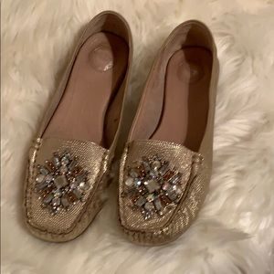 Nurture gold bling loafers
